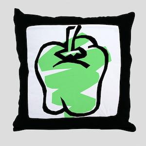 GREEN BELL PEPPER Throw Pillow