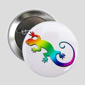 "Rainbow Gecko 2.25"" Button"
