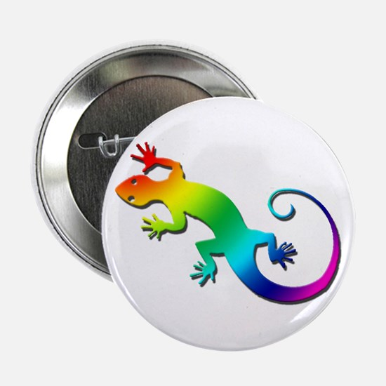 "Rainbow Gecko 2.25"" Button"