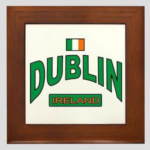 Dublin Ireland Framed Tile
