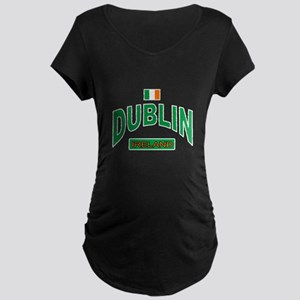 Dublin Ireland Maternity Dark T-Shirt