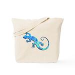 Malachite Blue Gecko Tote Bag