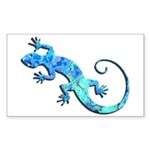 Malachite Blue Gecko Sticker (Rectangle)