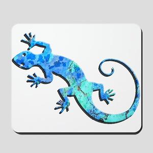 Malachite Blue Gecko Mousepad
