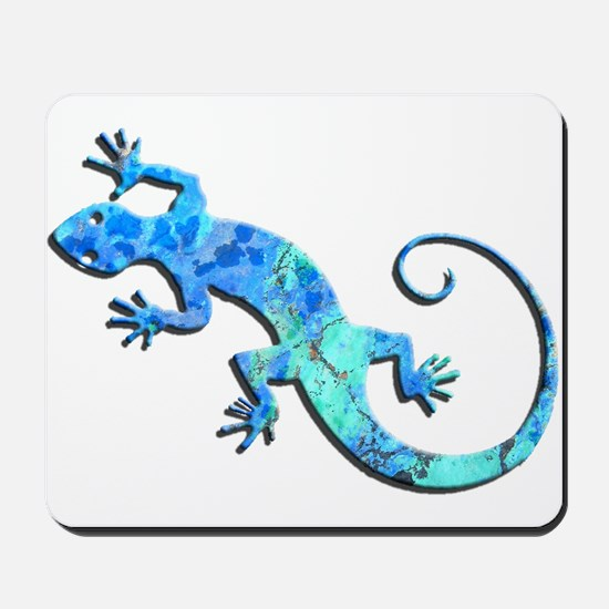 Malachite Blue Gecko Mousepad