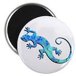 Malachite Blue Gecko Magnet