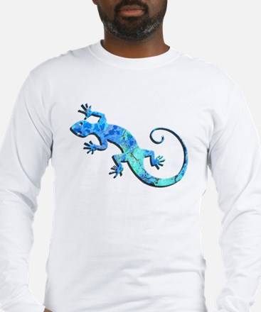 Malachite Blue Gecko Long Sleeve T-Shirt