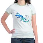 Malachite Blue Gecko Jr. Ringer T-Shirt