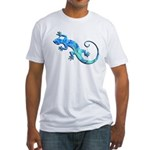 Malachite Blue Gecko Fitted T-Shirt