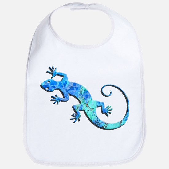 Malachite Blue Gecko Bib