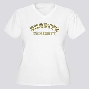 Burrito University Women's Plus Size V-Neck T-Shir