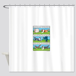 Herd Sheepies Shower Curtain