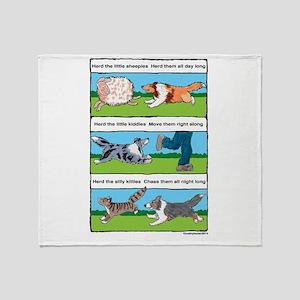 Herd Sheepies Throw Blanket