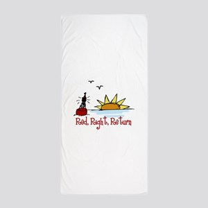 Red Right Beach Towel