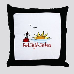 Red Right Throw Pillow