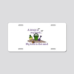 In The Sand Aluminum License Plate