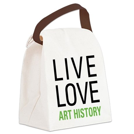 Live Love Art History Canvas Lunch Bag