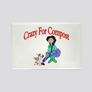 Crazy For Compost Rectangle Magnet