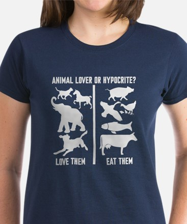 Animal Lover or Hypocrite? Women's Dark T-Shirt