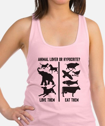 Animal Lover or Hypocrite? Racerback Tank Top