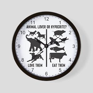 Animal Lover or Hypocrite? Wall Clock