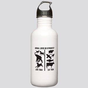 Animal Lover or Hypocr Stainless Water Bottle 1.0L