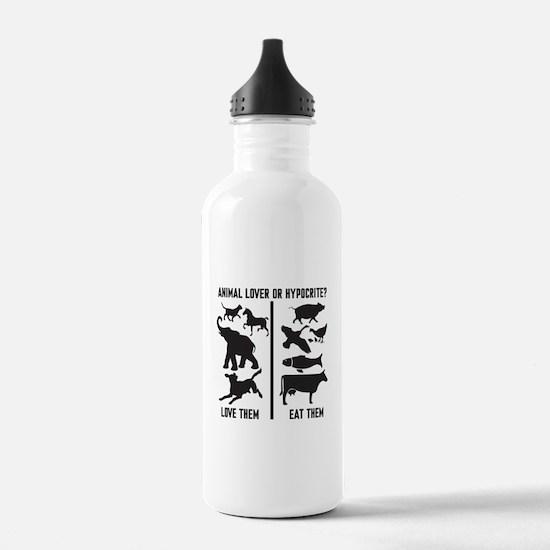 Animal Lover or Hypocr Water Bottle
