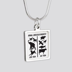 Animal Lover or Hypocrite? Silver Square Necklace