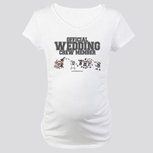 Official Wedding Crew Maternity T-Shirt