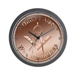 Masonic Once I also was penniless Wall Clock