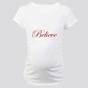 Red Believe Maternity T-Shirt