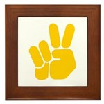 Peace It Out! Framed Tile
