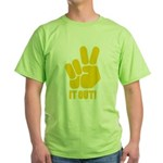Peace It Out! Green T-Shirt