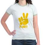 Peace It Out! Jr. Ringer T-Shirt