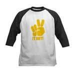 Peace It Out! Kids Baseball Jersey