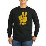 Peace It Out! Long Sleeve Dark T-Shirt