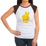 Peace It Out! Women's Cap Sleeve T-Shirt
