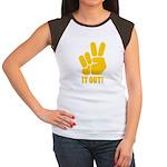 Peace It Out! Women's Cap Sleeve T-Shirt