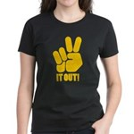 Peace It Out! Women's Dark T-Shirt