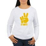 Peace It Out! Women's Long Sleeve T-Shirt