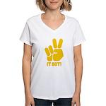 Peace It Out! Women's V-Neck T-Shirt