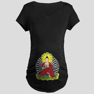 Vintage Buddah Maternity Dark T-Shirt