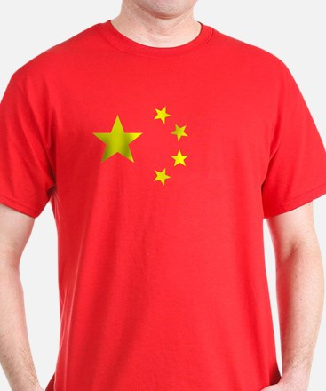 Chinese Flag Red T-Shirt