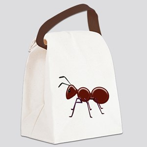 Shiny Brown Ant Canvas Lunch Bag