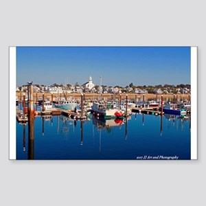 Provincetown Harbor Sticker (rectangle)