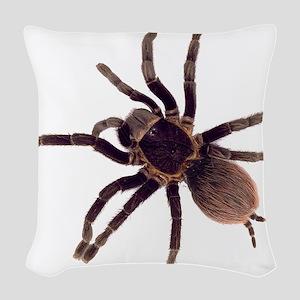 Hairy Brown Tarantula Woven Throw Pillow