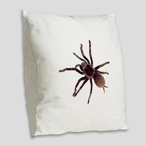Hairy Brown Tarantula Burlap Throw Pillow