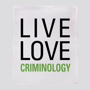 Criminology Throw Blanket