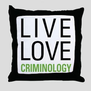 Criminology Throw Pillow