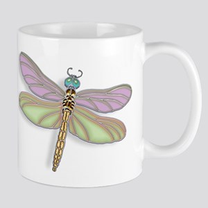 Lavender and Green Dragonfly Mugs
